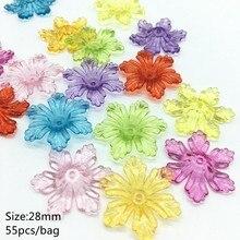 61a62e4e33b9 Meideheng 6 pétalo de flores en forma de cuentas de acrílico transparente  DIY perlas para la