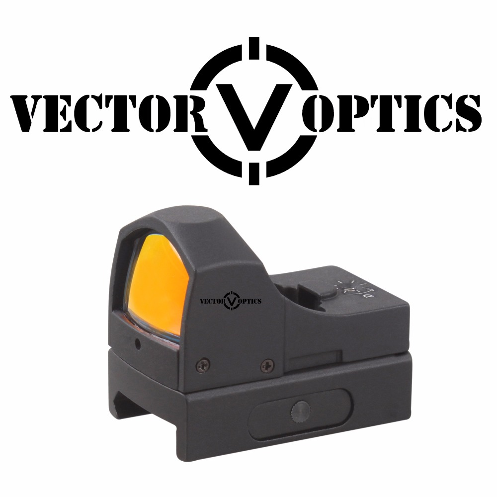 Vector Optics Sphinx 1x22 Auto Brightness Compact Red Dot Scope Sight Doctor 3 MOA 9mm Pistol 12ga Shotgun Reflex Sight vector optics sphinx red dot sight with pistol rear mount for glock 17 19 sig sauer beretta springfield xd s