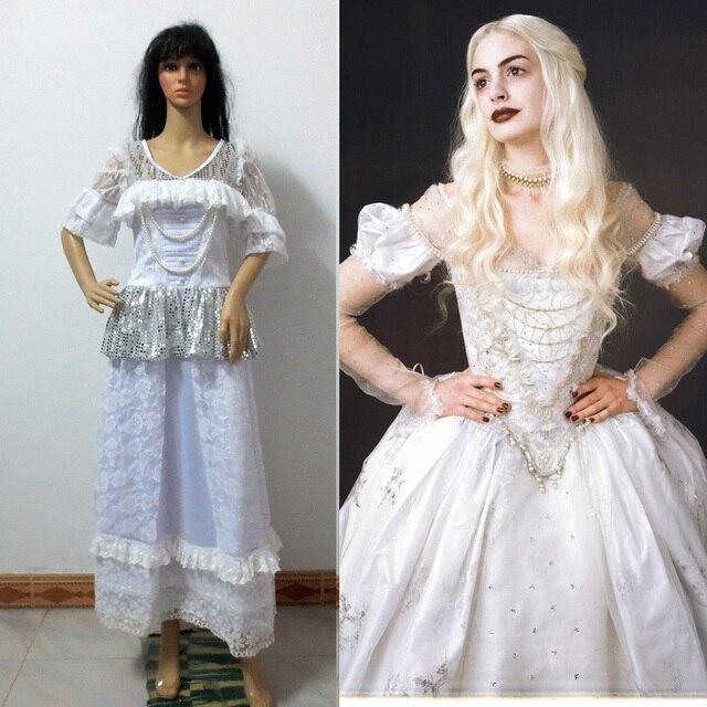 Alice Im Wunderland Die Weiße Königin Cosplay Kostüm Erwachsene