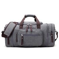 Canvas Men Large Capacity Travel Bags Handbags Vintage Shoulder Luggage Big Duffle Bag T651