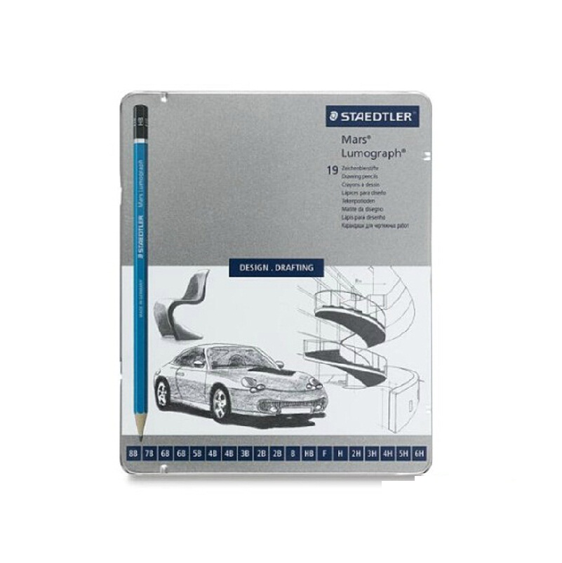 Drawing pencils Mars Lumograph 100 Premium quality pencil; 6 pcs /set ,12 pcs /set, 20 pcs full set mars pattern warhound titans full set f006