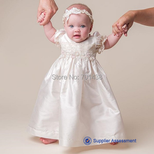 04306453d DL 1496 Lovely Princess Sale Taffeta Short Sleeve Applique Infant Baptism  Gown Cute Christening Dresses for Baby Girls and Boys-in Dresses from  Mother ...