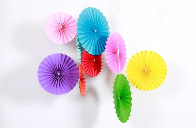 Paper discus fan party creative color paper flowers wedding paper discus fan party creative color paper flowers wedding decorations birthday party decorations kids paper fan mightylinksfo