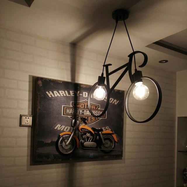 Retro hecho luminarias hierro forjado jaula colgante luces shopcase ...