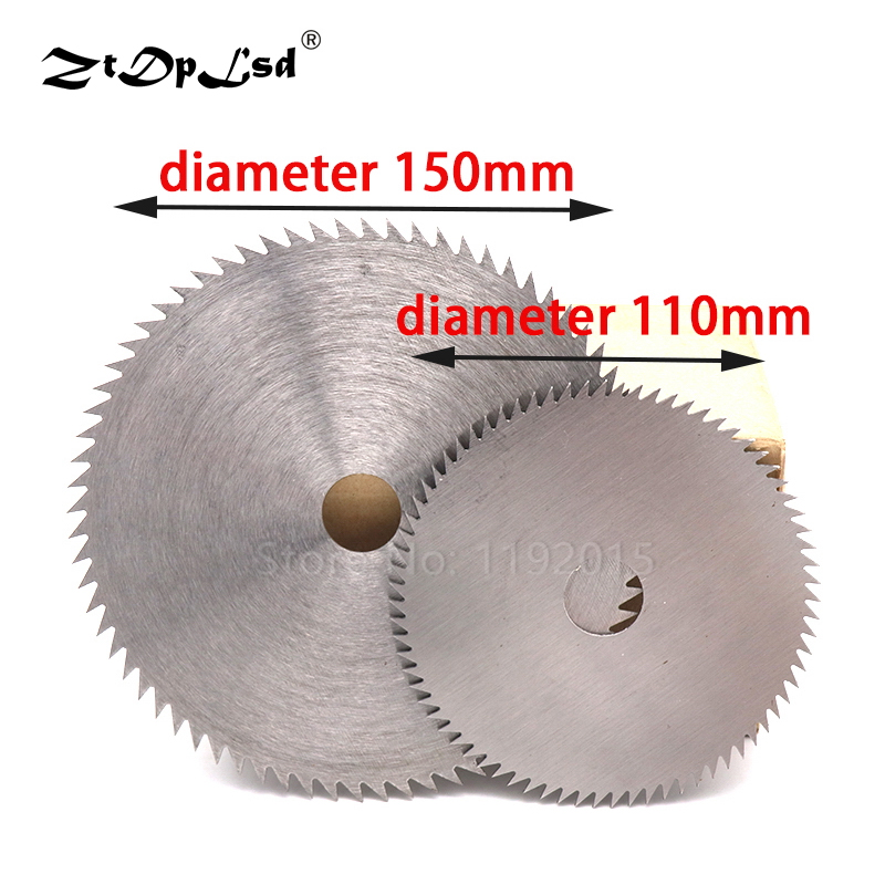 1Pcs 110/150mm Woodworking Wood Cutting Saw Blade High Speed Steel Circular Rotary Wheel Thin Discs Poly Panel Tools Blades