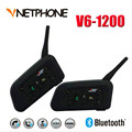 Motorcycle Helmet Bluetooth Headset Intercom Support Stereo Music/Audio 6 Riders Handsfree V6 Waterproof Motorcycle Interphone
