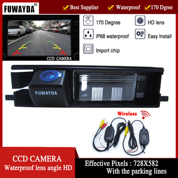 FUWAYDA Wireless Special Car Rear View Reverse Color CCD DVD GPS Navigation Kits CAMERA for TOYOTA RAV4 RAV-4 / Porte WATERPROOF image