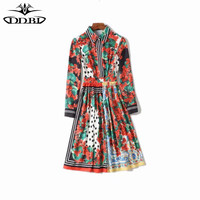 WVLDDBL 2019 spring floral shirt dress flowers print dressess 190226