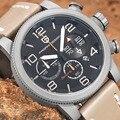 Luxury Brand Pagani Дизайн Часы Военные Мужская Кожаная Кварцевые Часы Водонепроницаемый Многофункциональный Спортивный Wistwatch relogio masculino