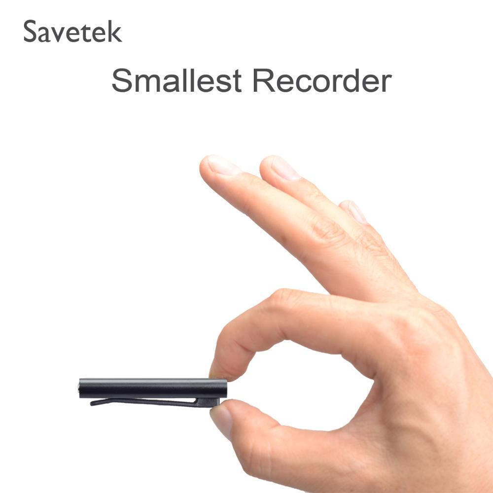 Savetek Più Piccolo Mini Della Clip del USB Penna A Comando Vocale 8 GB 16 GB Digital Voice Recorder Con MP3 Player OTG Cavo per il Telefono Android