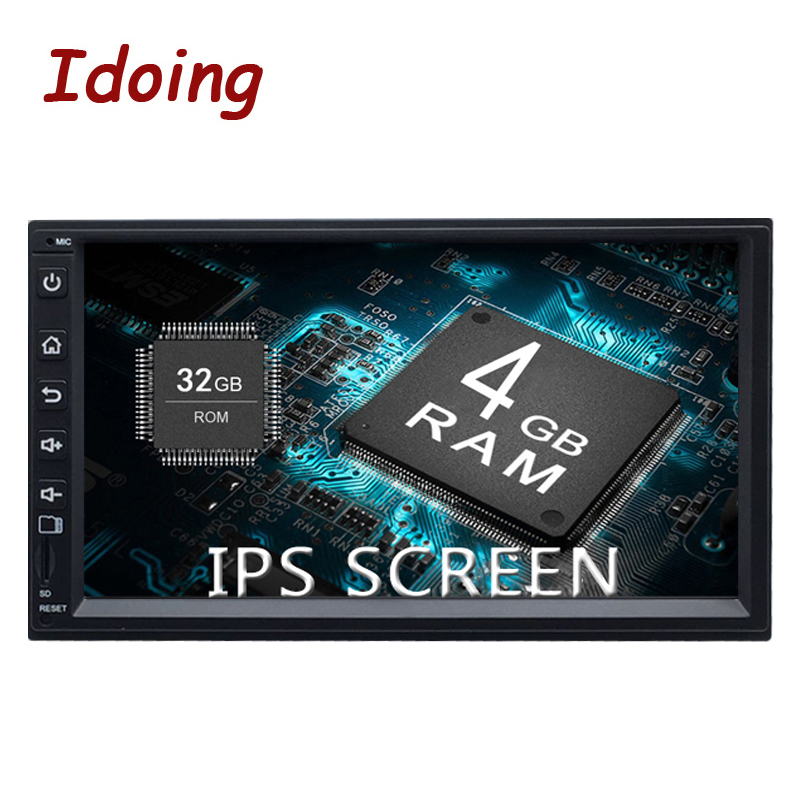 Idoing 7 Universel 2Din Voiture Android 8.0 Radio Multimédia Lecteur PX5 4 gb + 32g 8 Core GPS navigation QC 3.0 (Charge Rapide) démarrage rapide