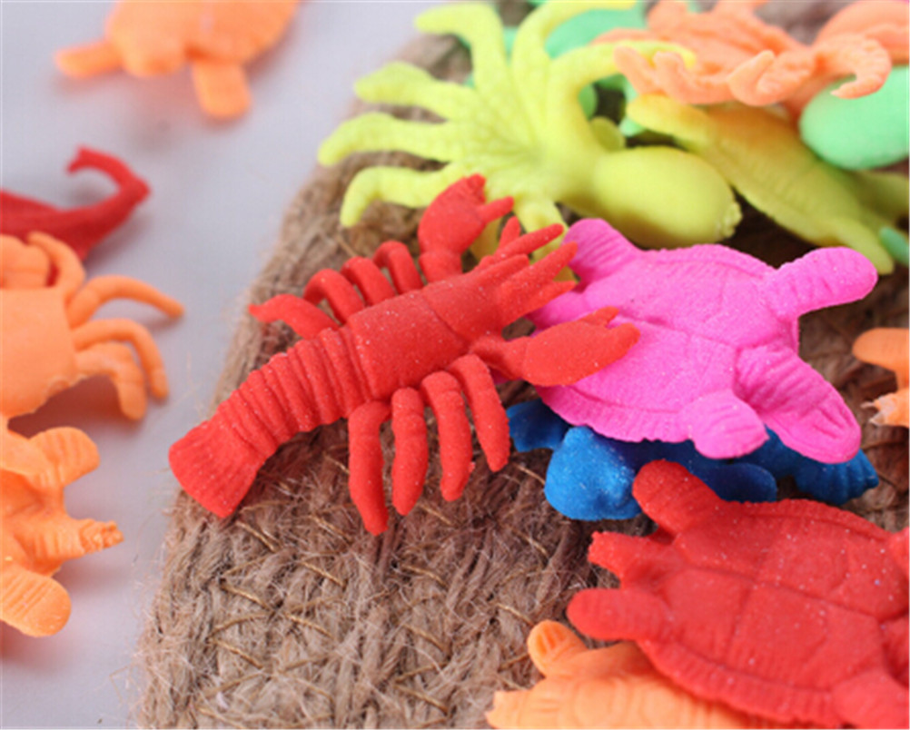 10pcs Foam Water Toy Swimming Pool Toy Water-absorbing Expanding Animal Toy GS