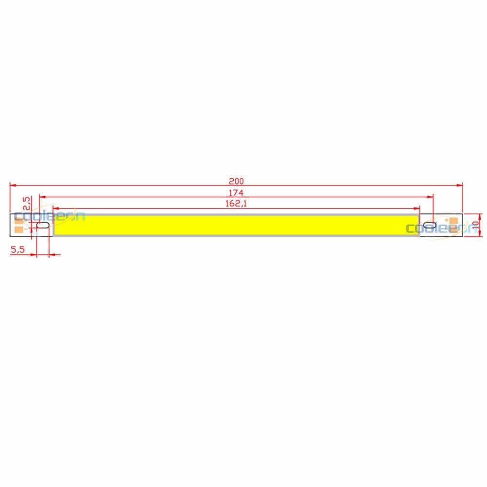 200x10mm 12V LED COB Bulb LED Bar Lights 10W 20CM Strip for Car Decor DRL Lights Work Lamp Readling Bulb DIY DC12V 1000LM