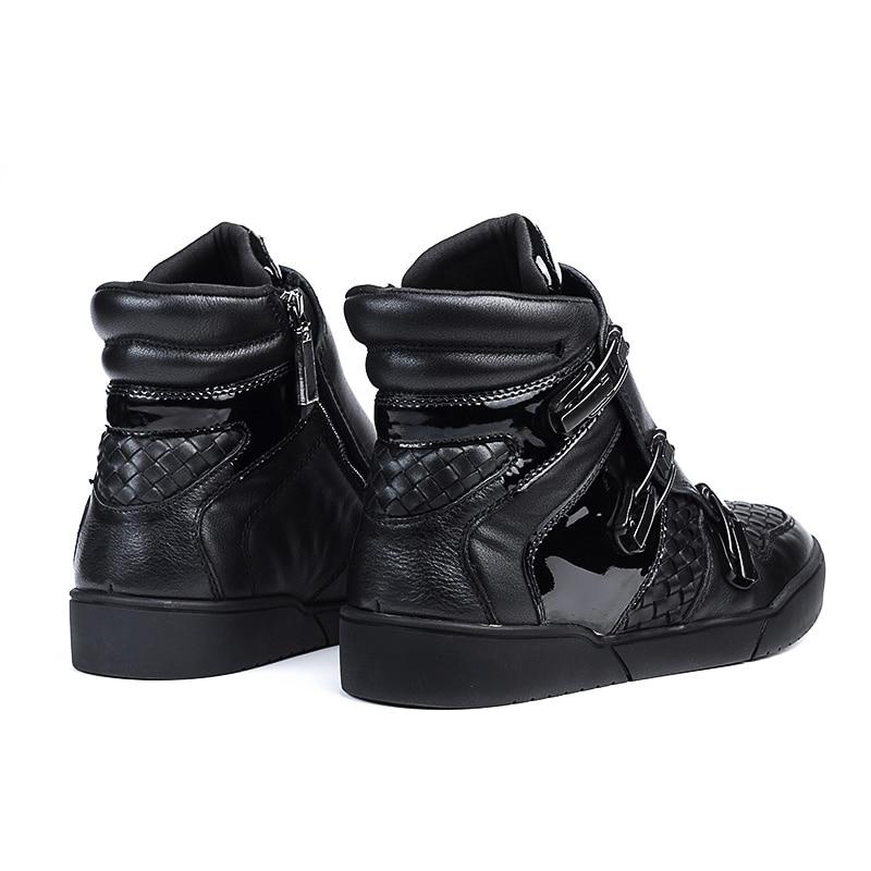 Moda De Con Mycolen Winterjas Felpa Invierno Hombres Negro Botas Botines Martin Para Cuero Hombre Caliente Piel Zapatos Heren Genuino qR16BR
