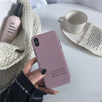 Retro Artistic Letter Soft Cover for iPhone - Lotus Color
