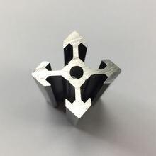 Черный анодированный v образный слот 2020 алюминиевый профиль