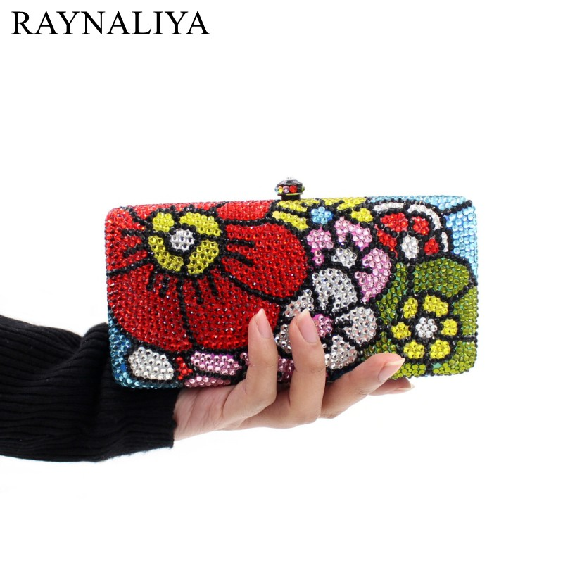 2017 Limited Minaudiere Day Clutches Beaded Woman Bag For Sale New Floral Crystal Clutch For Mini Long Box Smyzh-e0333