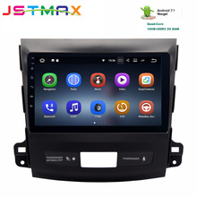 JSTMAX 9″ Android 7.1 Car GPS radio Player for Mitsubishi Outlander 2007-2011 with Quad Core 2GB+16GB Auto Radio Multimedia NAV