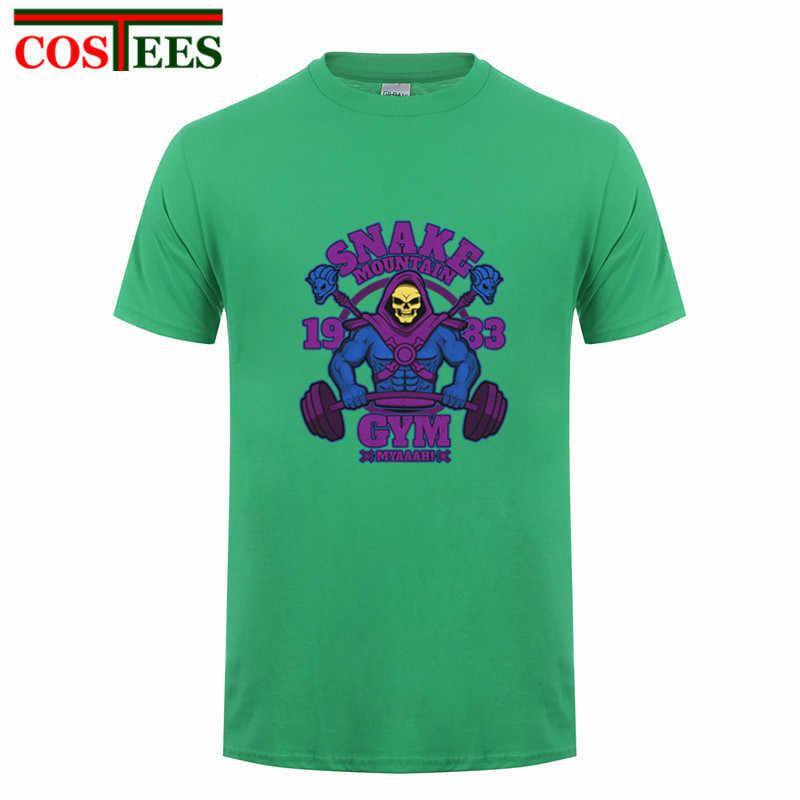 720596ffd ... Camisetas Snake mountain GYMs Men s T-shirt Skeletor T shirt men Skull  design streetwear T ...