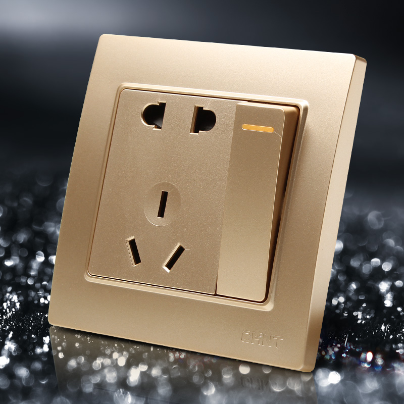 Champagne Color 86mm Single Control Switch Steel Frame