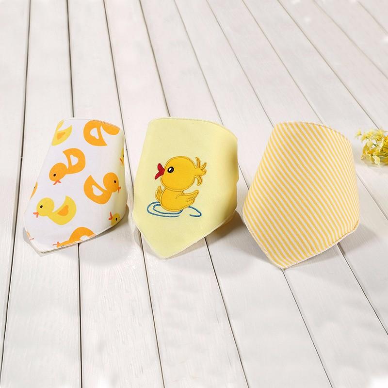 2016 Hot 3 Pcslot Baby Bibs Bandana Cute Bird Baberos Bebes Triangle Bibs&Burp Cloths Girl Boy Babadores Para Bebe Accessories (7)