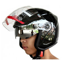 Protective Gears Motorcycle Helmets For Half Face Folding Double Visors Quality ABS Road Racing capacete motos casco