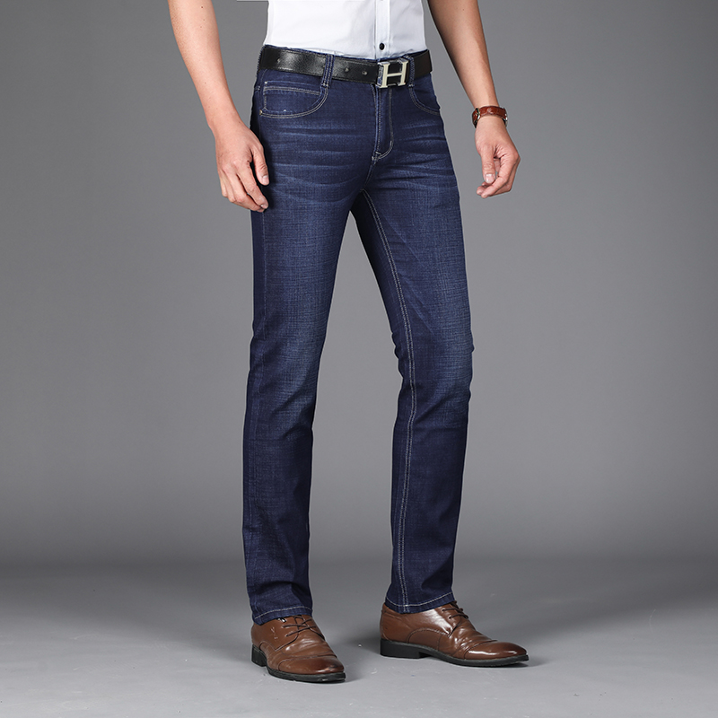 9f3d83c9d4ccc Kilimall  Mens Jeans Casual Business High Quality Denim Straight Fit ...