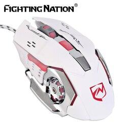 Jogo mecânico iluminado mouse usb com fio 3200 dpi iluminação programável macro backlight backlit computador ratos para pro gamer