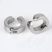 Ayliss-Piercing de acero inoxidable para hombres, Piercing falso para la oreja, pendiente sin Piercing, Piercing Punk, 4 Uds.