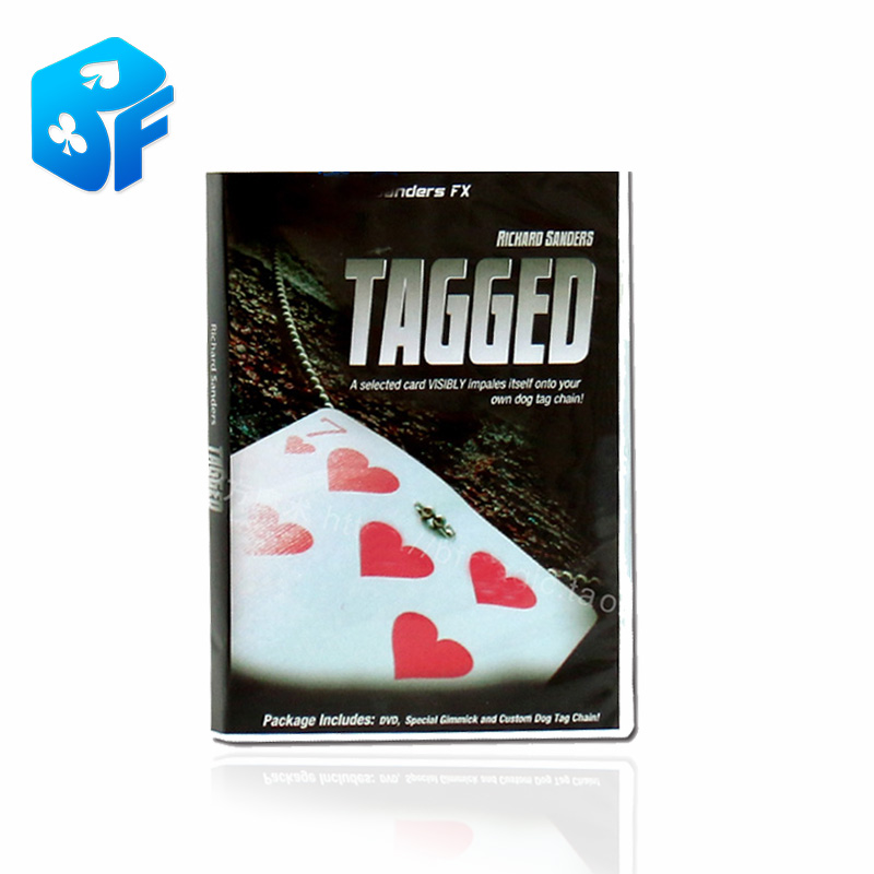 US $8 4 16% OFF|Free shipping Tagged Card Magic Tagged Necklace Knot Find  Card box packing only the gimmick-in Magic Tricks from Toys & Hobbies on