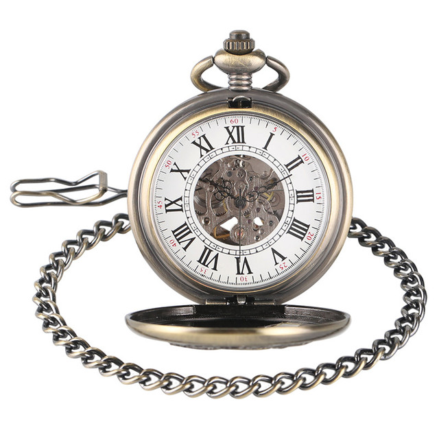 Vintage Chinese Dragon Kylin Awesome Design Auto Mechanical Pocket Watches Pendant Nurse Watch Gifts for Men Women Senior Elder