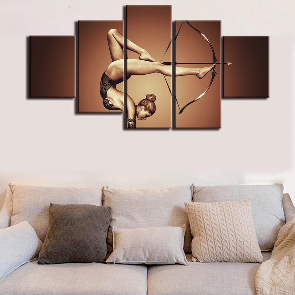 Rahmen Home Decor Kindraum plakat 5 Panel Sport Schatten bogen Pfeil ...