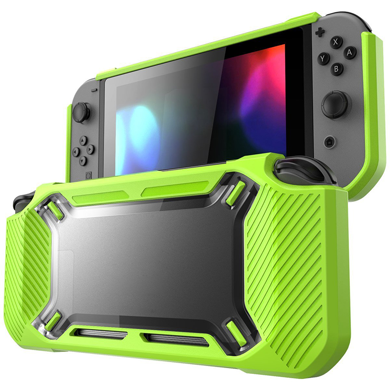 Game Console Protective Case Cover TPU Bumper Scratch Resistance Back Cover Rubber Case for Nintend Switch Drop Proof Protector
