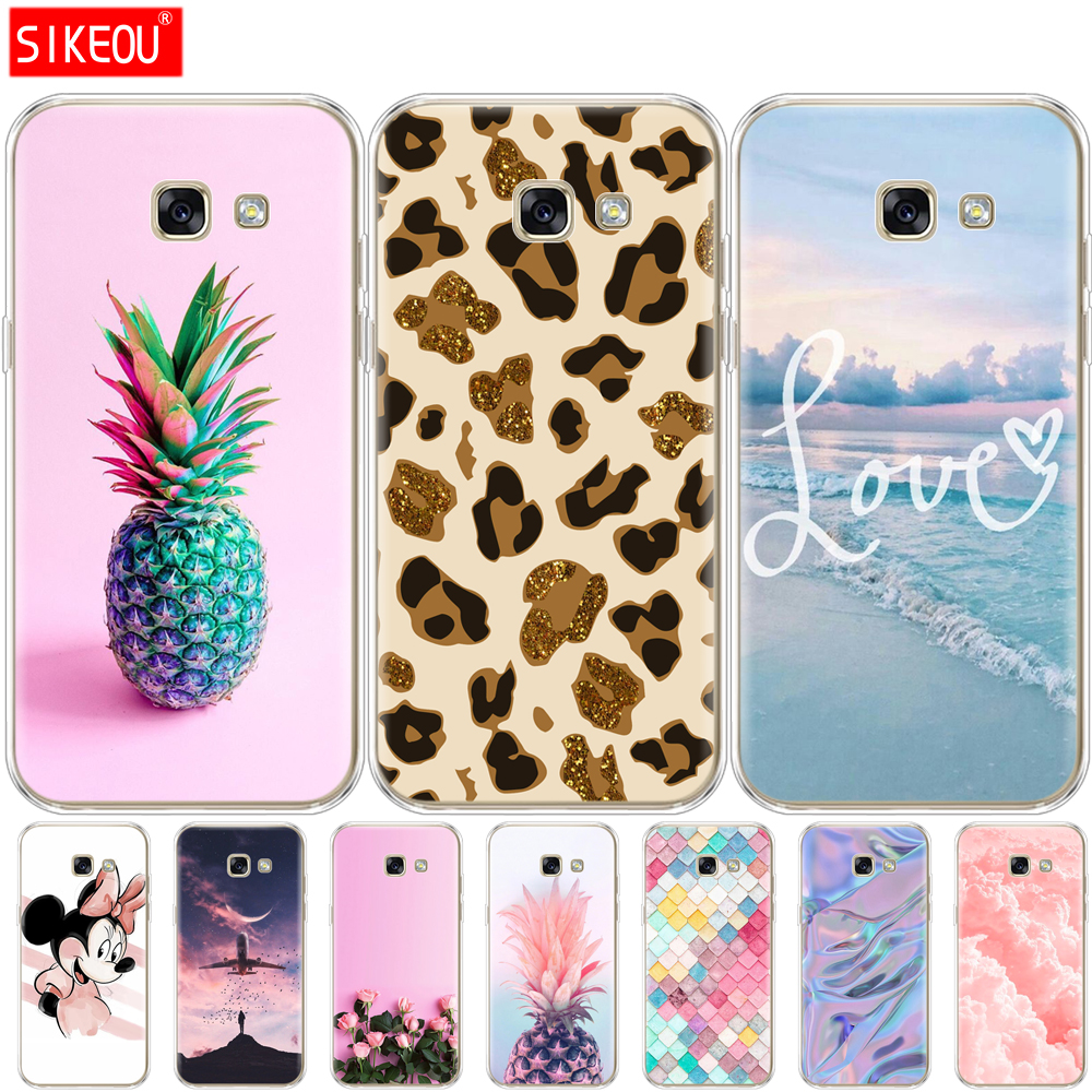Case For Samsung Galaxy A3 2017 A320 A320F Silicon Soft TPU Painting Back Case Cover For Samsung A3 2017 Case Protective Coque