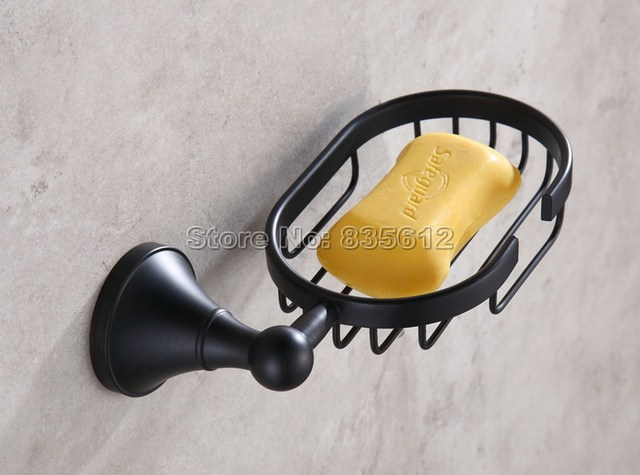 NEW Black Oil Rubbed Bronze Bathroom Accessory Wall Mounted Soap Dish  Holder Basket Wba860