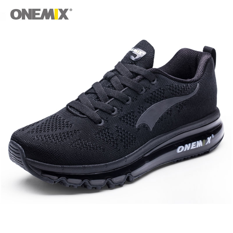 Onemix mens sport air cushion running shoes music rhythm mens sneakers breathable mesh outdoor athletic shoe light male shoes