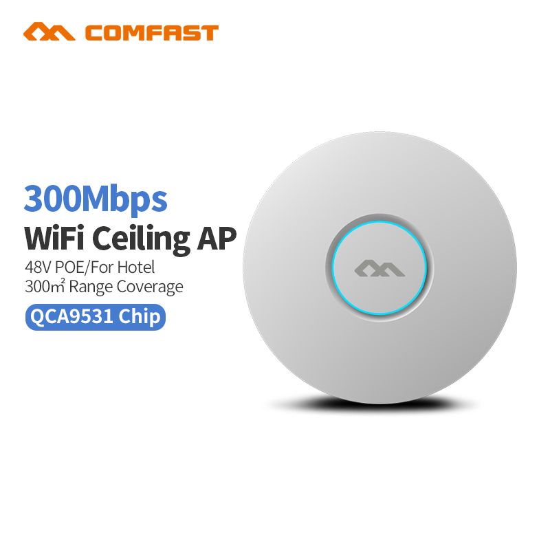 300M Wireless Access Point COMFAST CF-E320NV2 WI FI indoor AP WIFI Router Repeater Extender Antenna 48v poE RG45 WI-FI bridge ap jd коллекция 300m потолок ap дефолт