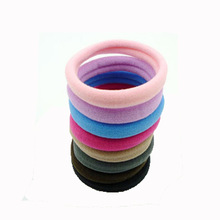 10PCS Korean Style Women Girls Simple Elastic Hair Bands Rubber Bands Hair Accessories Basic Girl Women Headwear Hair rope bands fashion women hair accessories headwear girls ornament rubber elastic hair bands double round circle metal hart hairbands