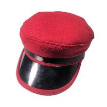 BUTTERMERE ° Tampão do Capitão Do Exército Vermelho de Lã Chapéu Militar  Tampa Plana Boina de 8b16bb9343c