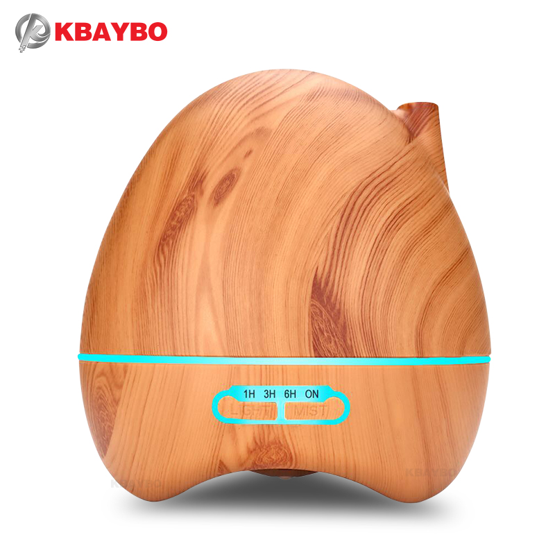 Aroma Essential Oil Diffuser 300ml Ultrasonic Air Humidifier with 4 Timer Settings 7 Color Changing LED lamp Whole House Humidi 500ml remote control aroma essential oil diffuser ultrasonic air humidifier with 4 timer settings 7 color changing led lamp k198