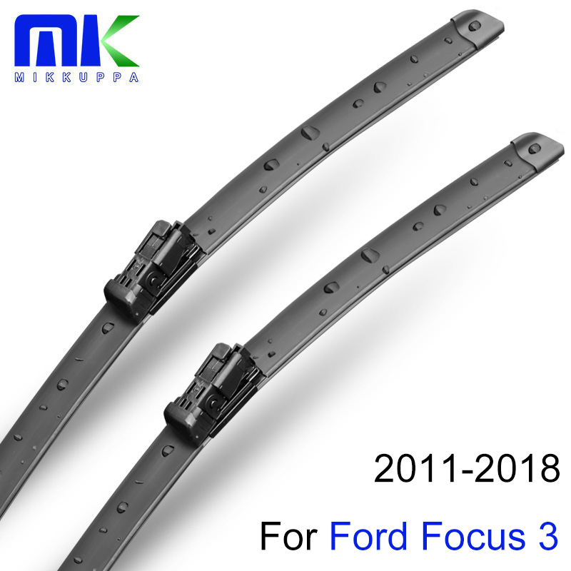 wiper blades for ford focus 3 2011 2012 2013 2014 2015 2016 28 28 r silicone rubber windshield. Black Bedroom Furniture Sets. Home Design Ideas