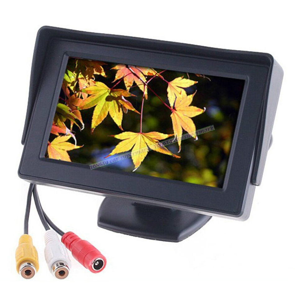 4.3 Car TFT Color LCD Rear View Monitor Digital Screen Display Support DVD GPS Camera with 2 Video Inputs