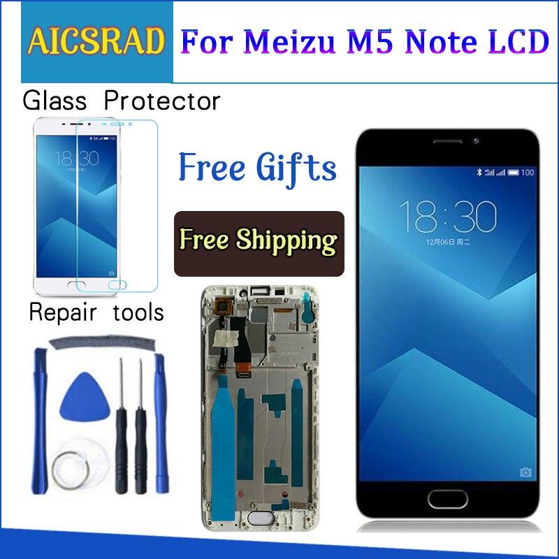 Alta calidad nueva pantalla LCD + digitalizador de pantalla táctil Pantalla de Cristal piezas de repuesto para Meizu M5 nota 5,5 pulgadas con marco 1920*1080