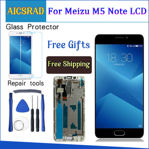 Image 1 - High Quality New LCD Display +Digitizer Touch Screen Glass Replacement Parts For Meizu M5 Note 5.5 inch With Frame 1920*1080