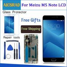 จอแสดงผล LCD คุณภาพสูง + Digitizer เปลี่ยนกระจกหน้าจอสำหรับ Meizu M5 หมายเหตุ 5.5 นิ้วกรอบ 1920*1080
