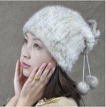 Зимой шляпу женщин 2016 плюс размер Русский норки меховая шапка высокого качество ручной работы трикотажные реального норки меховая шапка шапочка женщин зимние шапки