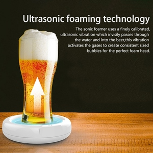 Beer Bubbler Household Supersonic Foaming Machine Portable Beer Foam Maker Sonic Foamer for Ice Beer