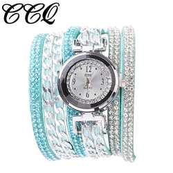 Женская мода кожаный ремешок аналоговые кварцевые наручные часы Для женщин модные простые часы стразами платье Новый A20