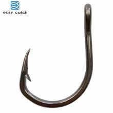 Easy Catch 30pcs 10827 Stainless Steel Black Sharpened Live Bait Fishing Hooks Size 2/0 3/0 4/0 5/0 6/0 7/0 8/0 9/0 10/0