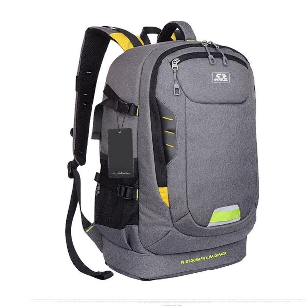 bilder für Fotografie DSLR SLR Kameratasche Rucksack mit Gepolsterte Trennwände einfügen stativ Halter für Canon 700D Nikon D7200 D5300 Sony A7 24